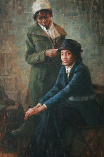 Angela Burns, Dignity, oil figure painting