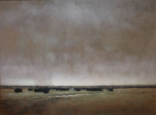 Nancy Bush, Storm Clouds, oil, 30 x 40.