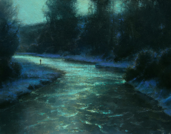 Brent Cotton, By the Light of the Moon, oil painting