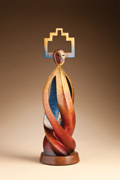 Joe Cajero, Oneness, bronze, 26 x 9 x 9.