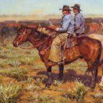 Shawn Cameron, Cowboy Consult, oil, 12 x 16.