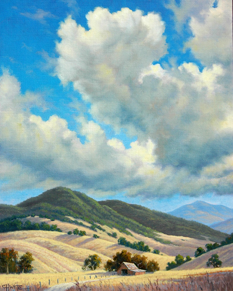 Charles White, Valley Clouds, oil, 20 x 16.