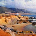 Calvin Liang, Malibu Coast, oil, 15 x 30.