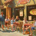 Jennifer Diehl, Cannery Row, oil, 16 x 20.