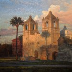 David Caton, Mission Concepción, oil, 36 x 48.