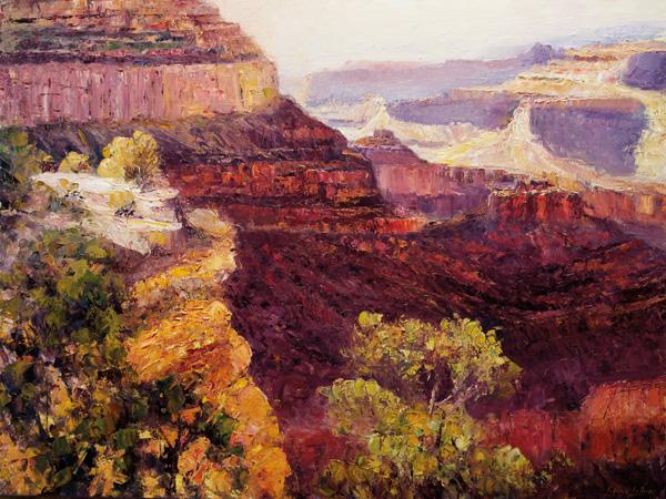Matthew Higginbotham, Canyon Overlook, oil, 36 x 48.