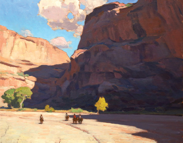 Glenn Dean, Canyon Riders, oil, 24 x 30.