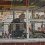 Dianne Massey-Dunbar, Carnival Reflections, oil, 28 x 22.