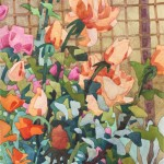 Carolyn Lord, Orange Poppies, Apricot Roses, watercolor, 15 x 11.
