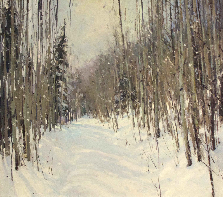 Jill Carver, Lifting Light, oil, 30 x 34.