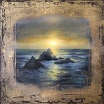 Cary Henrie, Bronze Coast, mixed media, 30 x 30.
