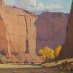 G. Russell Case, Canyon Dwellers, oil, 24 x 30.