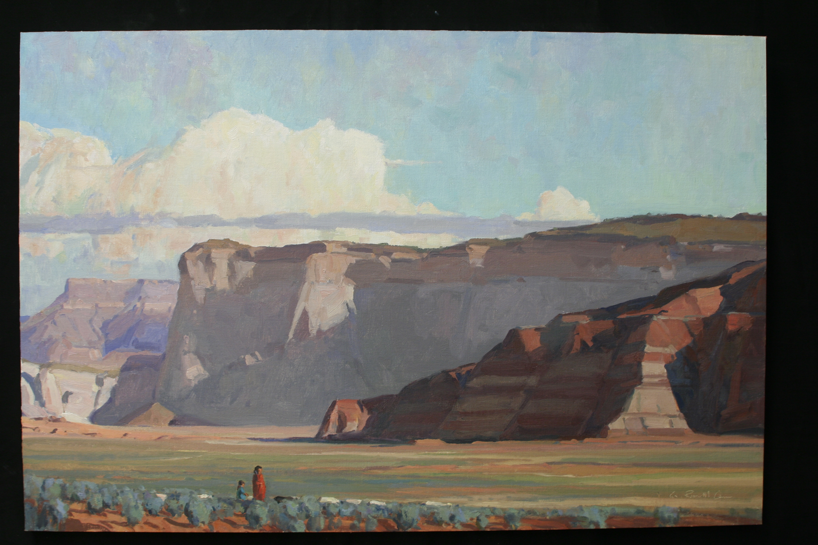 G. Russell Case, Simple Rewards, oil, 20 x 30.