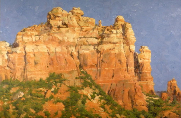 Mitch Caster, Colors of Sedona, oil, 24 x 36.