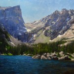 Mitch Caster, Dream Lake, oil, 36 x 60.