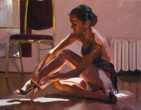 Mitch Caster, Tango, oil, 22 x 28.