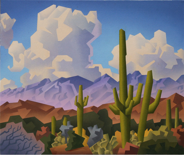 David Jonason, Catalina Mountains, oil, 20 x 24.
