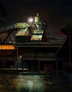 Renato Muccillo | Cedar Mill Nocturne, oil, 14 x 11. Courtesy White Rock Gallery.