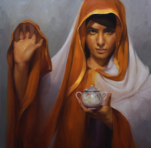 Young-Ji Cha, Mushk, oil, 24 x 24.