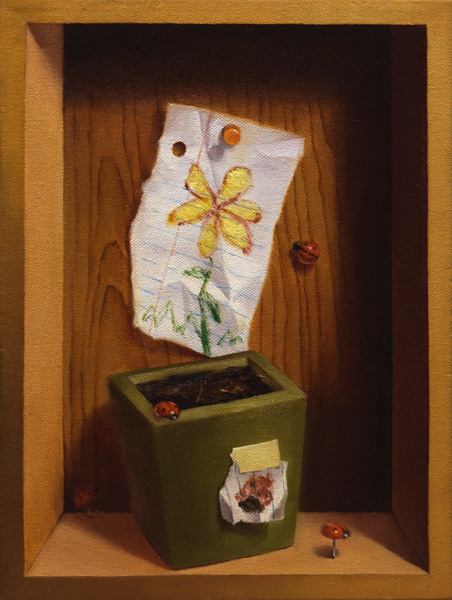 Young-Ji Cha, Spring, oil, 12 x 9.