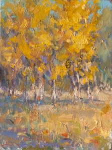 Dan Beck, Changing Seasons, oil, 12 x 9.