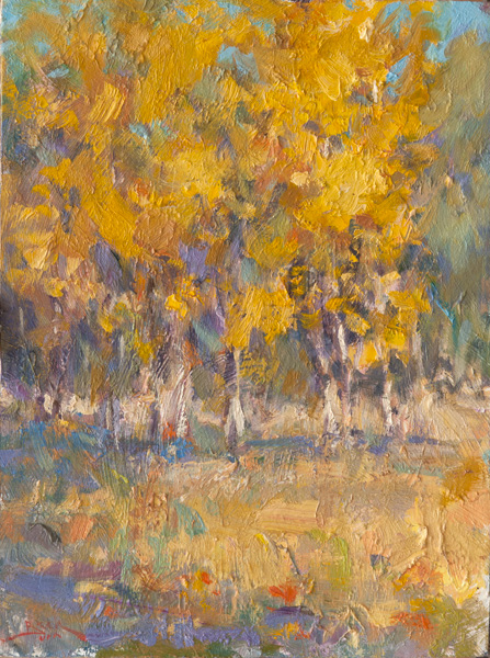 Dan Beck, Changing Seasons, oil, 12 x 9.