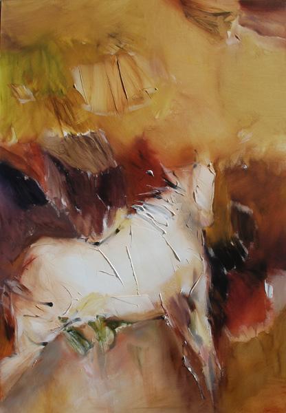 Jean Richardson, Chanson, acrylic, 65 x 45.