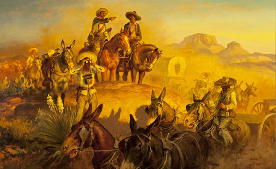 Charlie Dye, Villa at Zacatecas, oil, 29 x 47. Estimate: $45,000-$55,000.