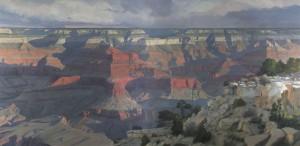 Arturo Chávez, Rock of Ages, oil, 80 x 160.
