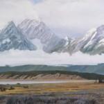 Arturo Chávez, Where the Buffalo Roam, oil, 50 x 120.
