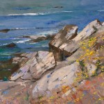 Albert Handell, China Cove, Point Lobos, oil, 18 x 24.