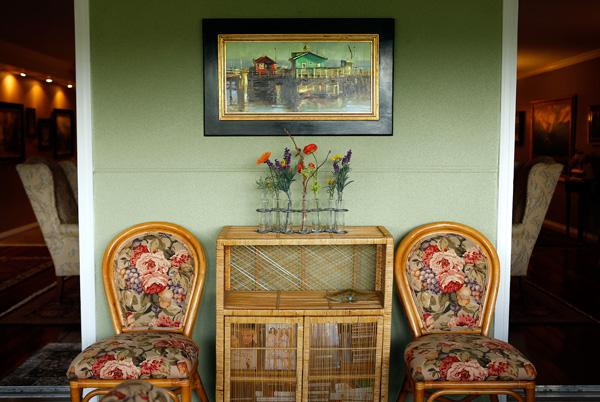 The sunroom of her Denver condominium