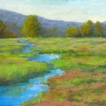 Barbara Churchley, Meander, pastel, 16 x 20.