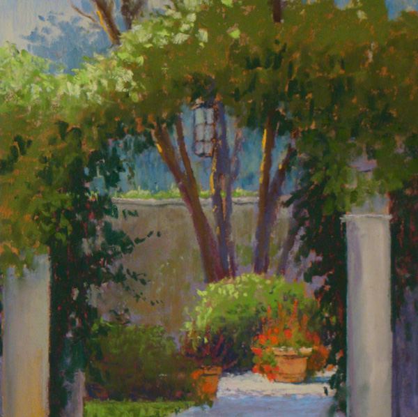 Clark Mitchell, Afternoon Arch, pastel, 8 x 8.