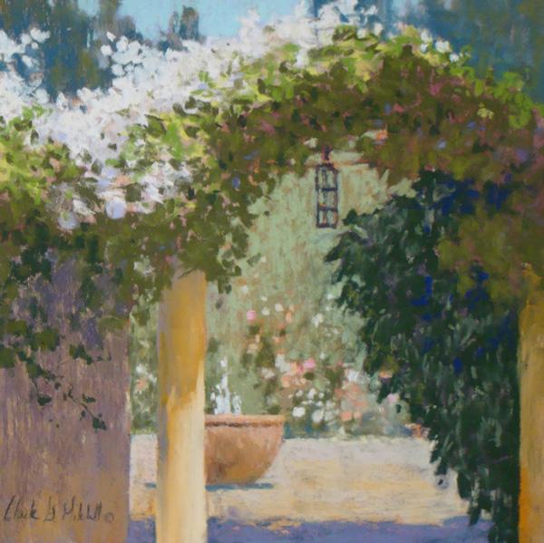 Clark Mitchell, Morning Arch, pastel, 8 x 8.