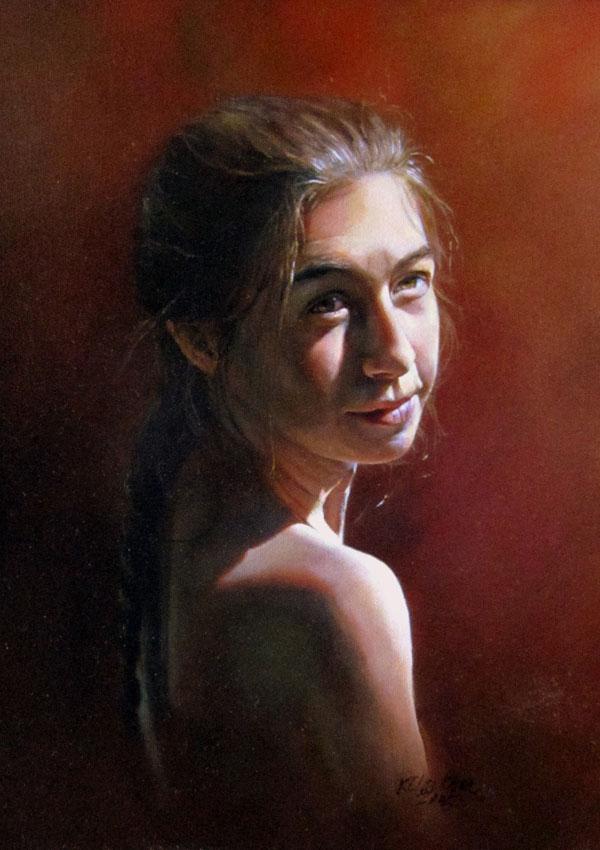 Karen Clarkson, The Goddess Within, Laurissa, oil, 16 x 12.