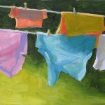 Tim Horn, Clean Laundry, No. 3, oil, 8 x 10.