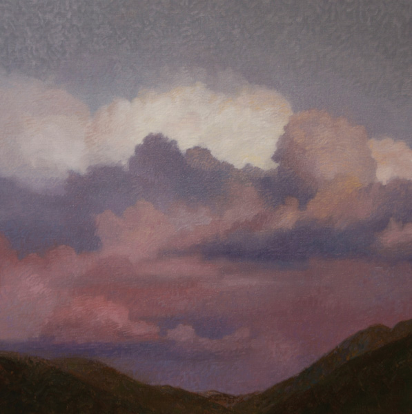Will Klemm, Clouds Over Taos, oil, 36 x 36.