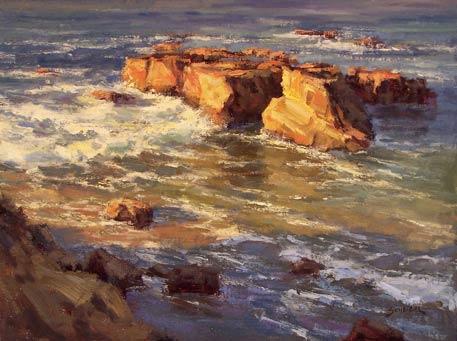 Greg Scheibel, Coastal Glow, oil, 12 x 16.