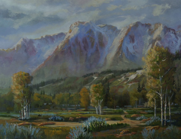 Heather Coen, God's Country, oil, 18 x 24.