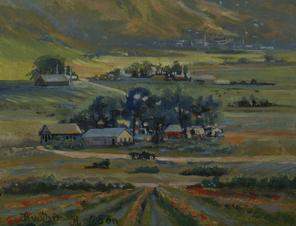 Heather Coen, Sweet Home, oil, 11 x 14.