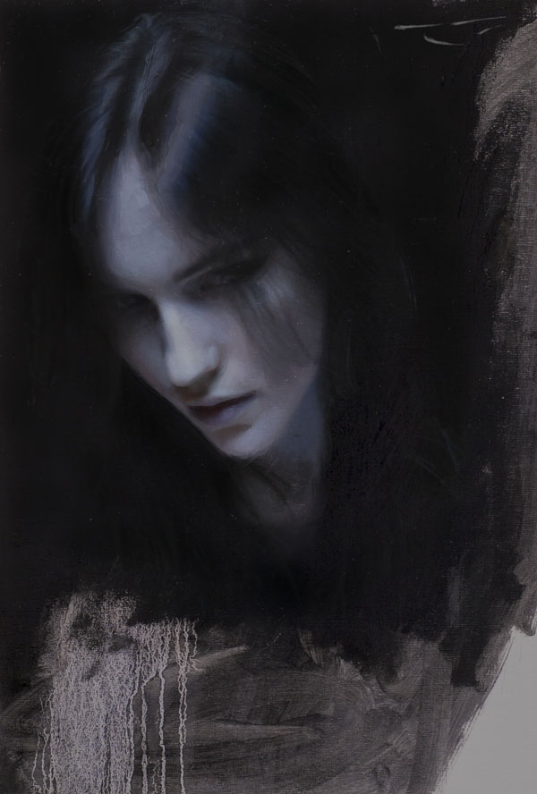 Casey Baugh, Cold, oil, 18 x 14.