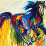 Barbara Meikle, Color Cadence, oil, 36 x 48.