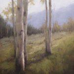 Jane Hunt, Colorado Aspens, oil, 24 x 18.