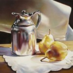 Roberta Combs, Sterling Pears, pastel, 12 x 12.