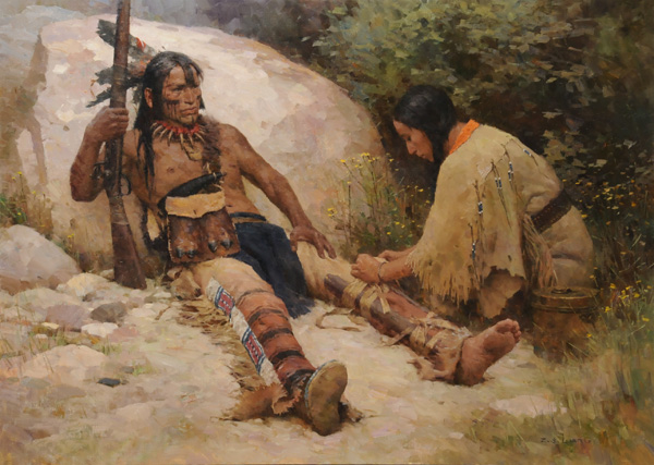 Z.S. Liang, Compassion for the Enemy, oil, 34 x 48.