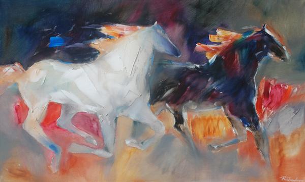 Jean Richardson, Concomitant, acrylic, 36 x 60.