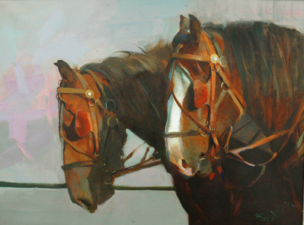 Bonnie Conrad, Horsepower, oil, 18 x 24.