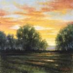 Brenda Boylan, Contemplating Gold, pastel, 24 x 24.