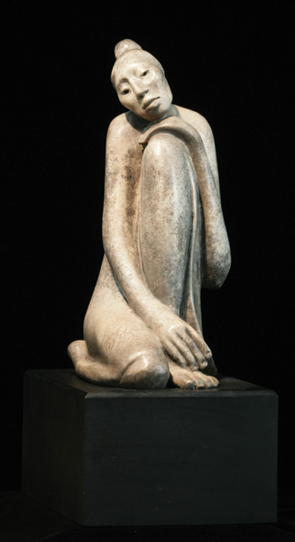 Shirley Thomson-Smith, Contemplation, bronze, h17.